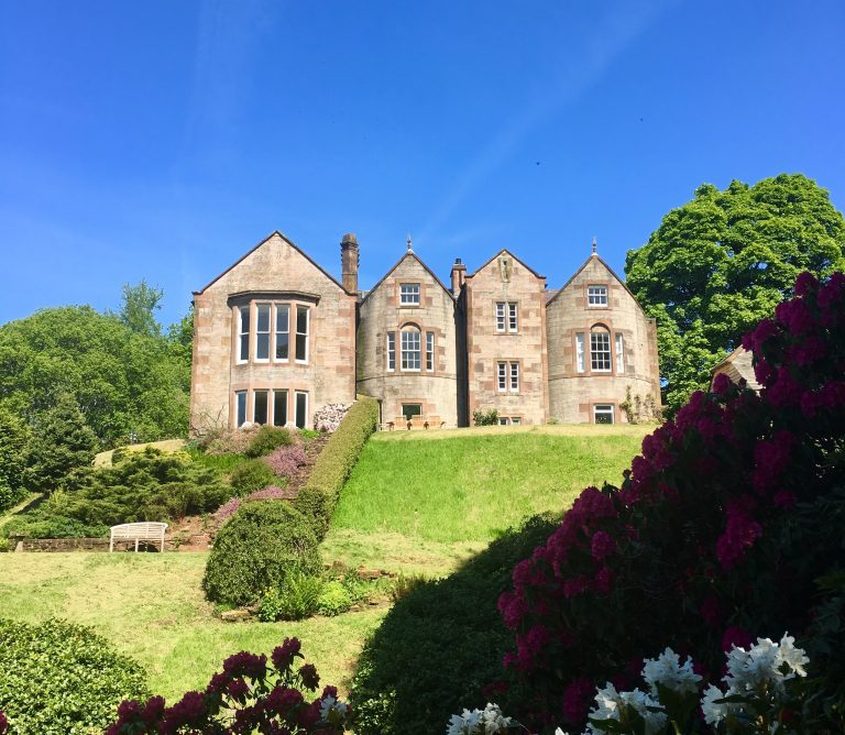 5 Star B&B | View Of House From Garden | Nithbank Country Estate