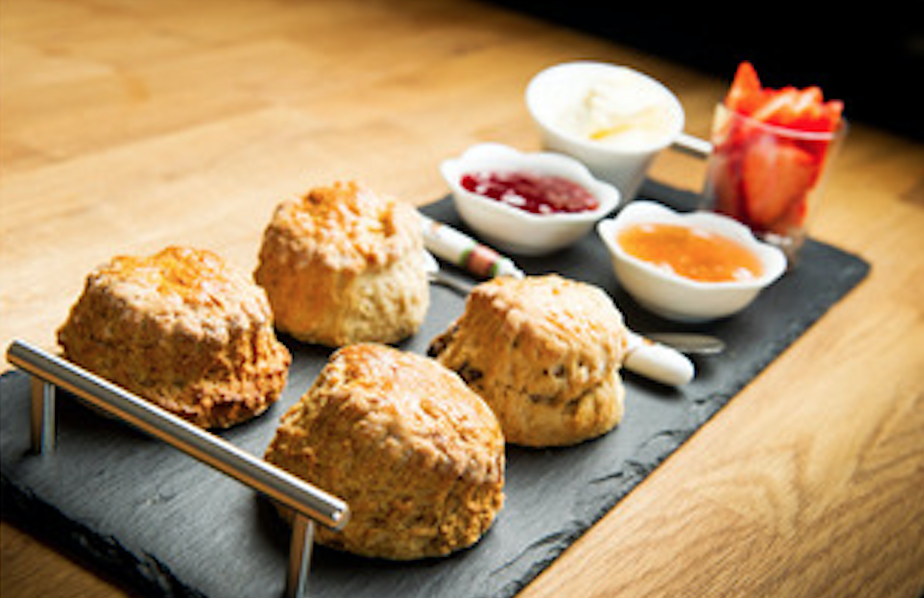Scones served on arrival at Nithbank Country Estate